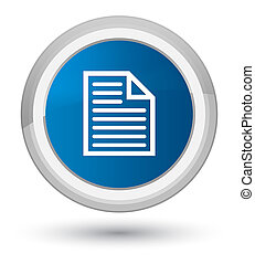 Document page icon prime blue round button