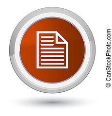 Document page icon prime brown round button