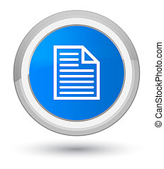 Document page icon prime cyan blue round button