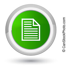 Document page icon prime green round button