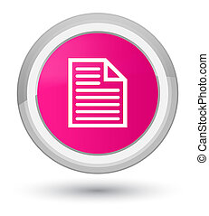 Document page icon prime pink round button