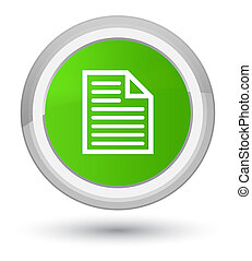 Document page icon prime soft green round button