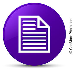 Document page icon purple round button
