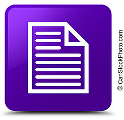 Document page icon purple square button