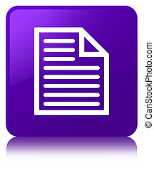 Document page icon purple square button