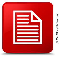 Document page icon red square button