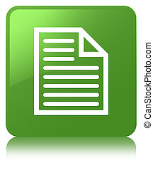 Document page icon soft green square button