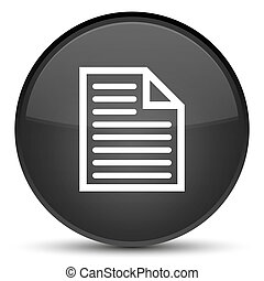 Document page icon special black round button