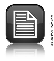 Document page icon special black square button