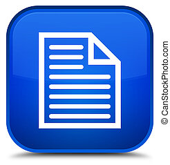 Document page icon special blue square button