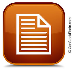 Document page icon special brown square button