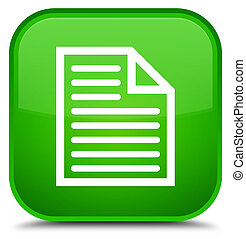 Document page icon special green square button