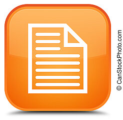 Document page icon special orange square button