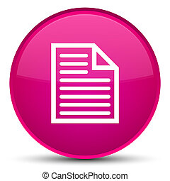 Document page icon special pink round button