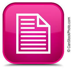 Document page icon special pink square button