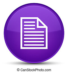 Document page icon special purple round button