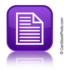 Document page icon special purple square button