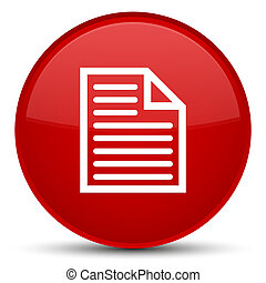 Document page icon special red round button