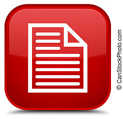 Document page icon special red square button