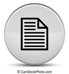 Document page icon special white round button