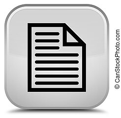 Document page icon special white square button