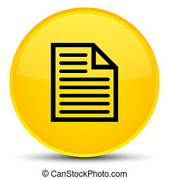 Document page icon special yellow round button