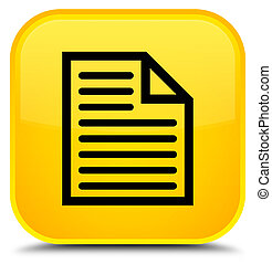 Document page icon special yellow square button