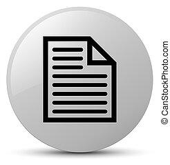 Document page icon white round button