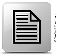 Document page icon white square button