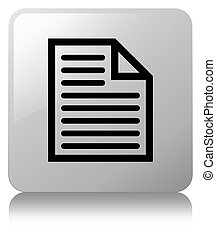 Document page icon white square button