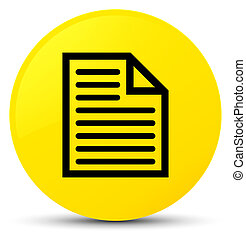 Document page icon yellow round button
