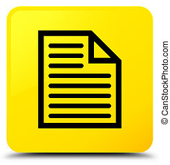 Document page icon yellow square button