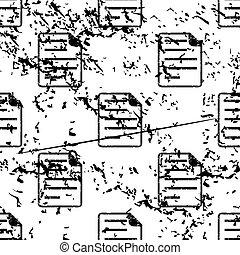 Document page pattern, grunge, monochrome
