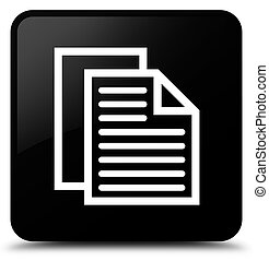 Document pages icon black square button
