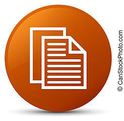 Document pages icon brown round button