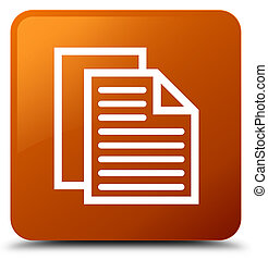 Document pages icon brown square button