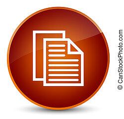 Document pages icon elegant brown round button