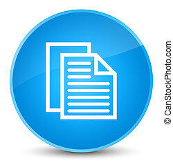 Document pages icon elegant cyan blue round button