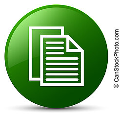 Document pages icon green round button
