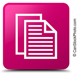 Document pages icon pink square button