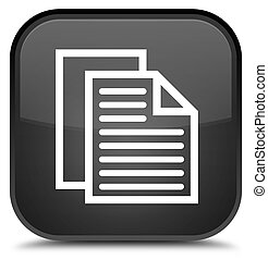 Document pages icon special black square button