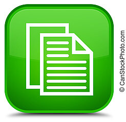 Document pages icon special green square button