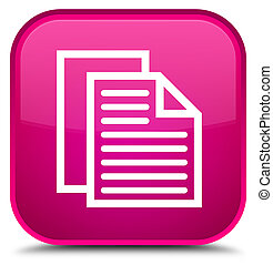 Document pages icon special pink square button
