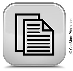 Document pages icon special white square button