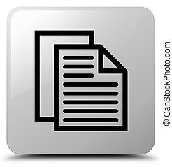 Document pages icon white square button