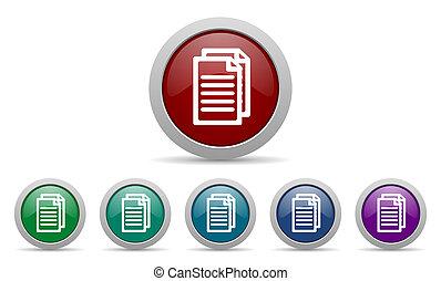 document pagina's, pictogram, meldingsbord