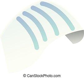 Document paper icon, cartoon style