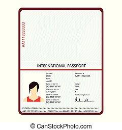 document, passeport, identification