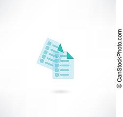 document, pictogram