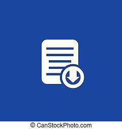 document, pictogram, downloaden, vector